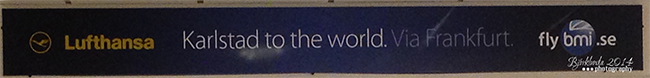Von Karlstad to the world - Slogan